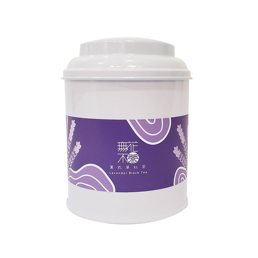 【無花不茶】花入紅茶:薰衣草紅茶—3g三角茶包*10入鐵罐裝