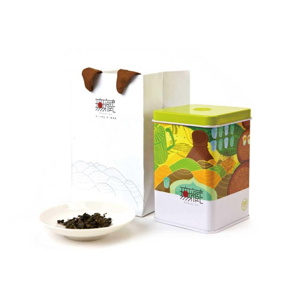 【無藏故事茶】阿里山金萱綠茶 100g鐵罐裝