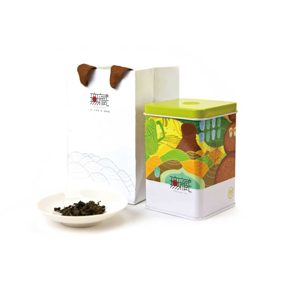 【無藏故事茶】阿里山金萱綠茶 150g鐵罐裝