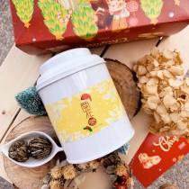 【無藏嚴選】工藝花茶_會開花的茶10顆綜合花型x1鐵罐裝(5款花型各2) (含鐵盒、提袋)