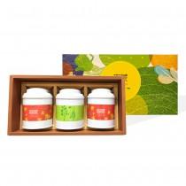 【無藏嚴選】健康台灣茶禮盒—台灣高山綠茶+減糖茶食