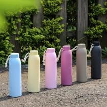 【無藏嚴選】馬卡龍防撞玻璃冷泡隨身瓶-300ml - (6色可選)