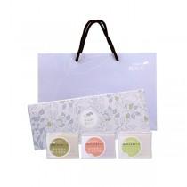 【無藏嚴選】天然茶皂芬芳禮盒組─手工茶皂3入