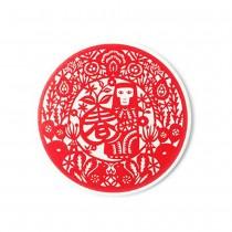 【玩美文創】台灣剪紙系列_吸水陶瓷_金喜猴開春杯墊