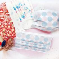 【上好生醫】日式花紋_藍粉款_成人醫療口罩 / 5入裝 / 30入盒裝 / MD雙鋼印