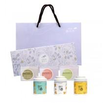 【無藏嚴選】花茶x天然茶皂精美禮盒組─凍頂花茶3罐裝+手工茶皂3入